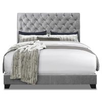Candace Queen Fabric Bed