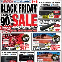 2001 Audio Video - Black Friday Sale Flyer