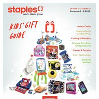 Staples - Kid's Gift Guide Flyer