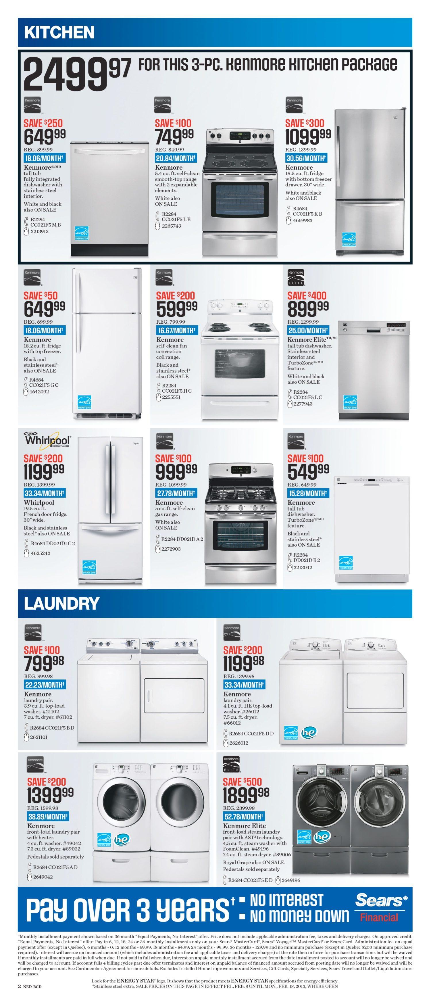 Sears Weekly Flyer - Hometown Store - Feb 8 – 18