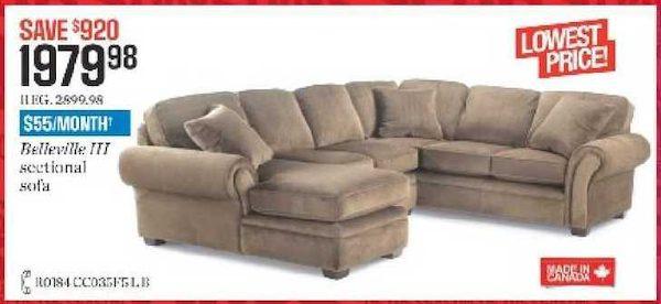 Fabulous Sears Belleville Iii Sectional Sofa 1979 98 Download Free Architecture Designs Remcamadebymaigaardcom