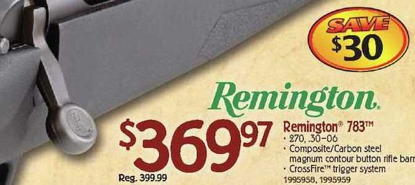 Bass Pro Shops: Remington 783™ Rifle - $369 97 - RedFlagDeals com
