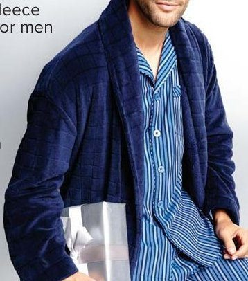 d33e1fe2ce0 The Bay Black Brown 1826 Plush Fleece Shawl Robe for Men -  29.99 Black  Brown 1826 Plush Fleece Shawl Robe for Men