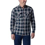 Windriver - Long-sleeve Double Layer Snap Front Shirt - $14.88