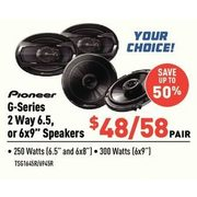 "Pioneer G-Series 2-Way 6.5"" or 6x9"" Speakers - From $48.00 (Up to 50% off)"