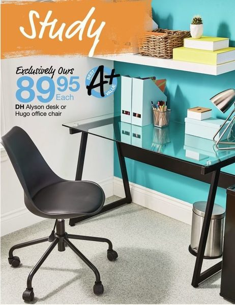 Home Outfitters DH Alyson Desk Or Hugo Office Chair