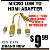 Micro USB To HDMI Adapter - $9.99