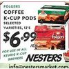 Folgers Coffee K-Cup Pods  - $6.99