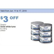 Ocean's Solid White Tuna - $3.00 off