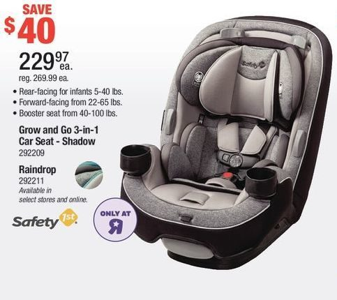 Toys R Us Safety 1st Grow And Go 3 In 1 Car Seat