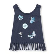 7bb62139456be Toddler Girls Matchables Sleeveless Glitter Graphic Fringe Tank Top -  3.88  ( 9.07 Off)
