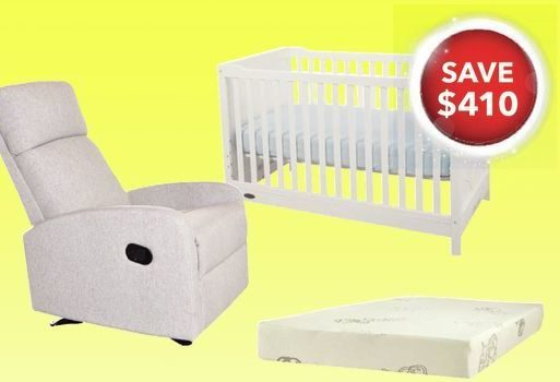 Best Buy Kidiway Santa Maria Glider And Moon Crib With Organicfeel
