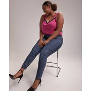 Online Only - Tall Slightly Curvy Skinny Leg Jean With Print - D/c Jeans - $39.99 ($32.01 Off)