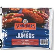 Schneiders Juicy Jumbos Sausages Or Shopsy's Franks - $3.49