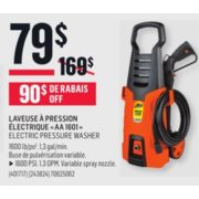 Electric Pressure Washer - $79.00 (Save $90.00)