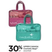 Upper Canada Cosmetic Bags - 30% off