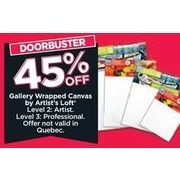 Gallery Wrapped Canvas By Artist's Loft - 45% off