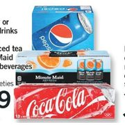 Coca-Cola Canada Dry or Pepsi Soft Drinks or Nestea Iced Tea or Minute Maid Refreshers Beverages - $4.99