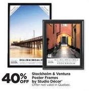 Studio Decor Stockholm & Ventura Poster Frames - 40% off