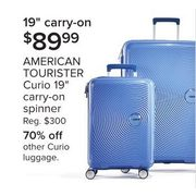 "American Tourister Curio 19"" Carry-On Spinner - $89.99"