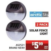 Arctic Sky Solar Fence Light - $5.99/pack