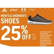 Adidas, Asics, Under Armour Mens & Womens Shoes - 25% off