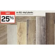 All Vinyl Planks  - 25% off