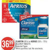 Claritin or Aerius Allergy Tablets - $36.99