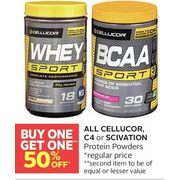 All Cellucor C4 or Scivation Protein Powders - BOGO 50% off