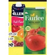 Allen's Fruit Punch or Cocktails or Fairlee Juice - 4/$5.00