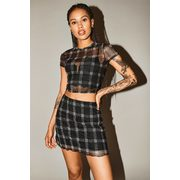 Online Only | Printed Mesh Skirt - $15.00 ($7.95 Off)