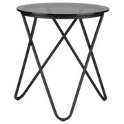 Hairpin-legged Glass And Metal Side Table - $49.99 ($50.00 Off)