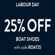 Sperry Labour Day Special: 25% off Boat Shoes