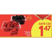 Blackberries Or Raspberries - $1.47 ($1.50 off)