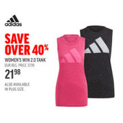 Adidas Women's Win 2.0 Tank - $21.98 (40% off)
